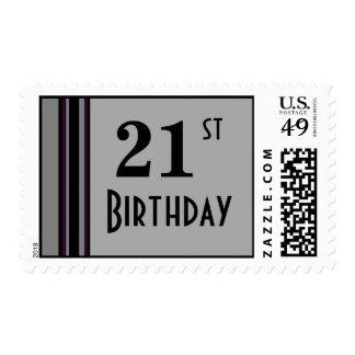 Birthday stripes postage stamp