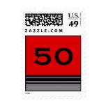 Birthday stripes postage stamps