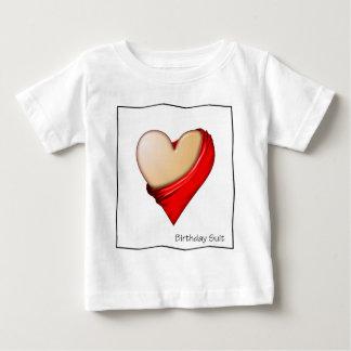 Birthday Suit-HEART Baby T-Shirt