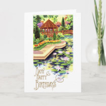 Birthday Summer Garden Card