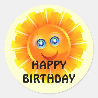 BIRTHDAY: Sunshine birthday sticker