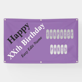 Birthday Surprise Party Banner