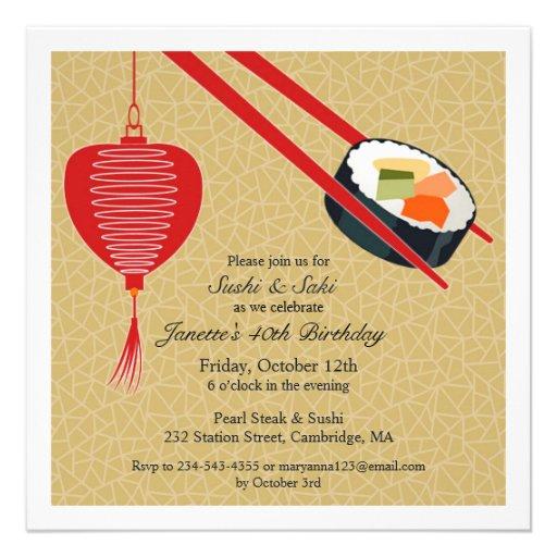 Personalized japanese birthday invitations custominvitations4u birthday sushi party flat invitation stopboris Images