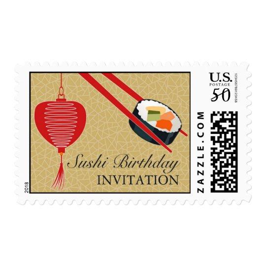 Birthday Sushi Party Medium Postage
