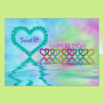 Birthday,  Sweet 16th  Hearts and Roses Card