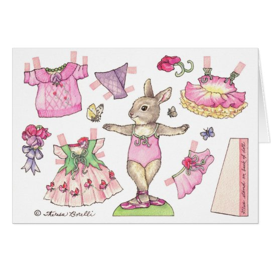 Birthday Sweet Pea Paper Doll Card