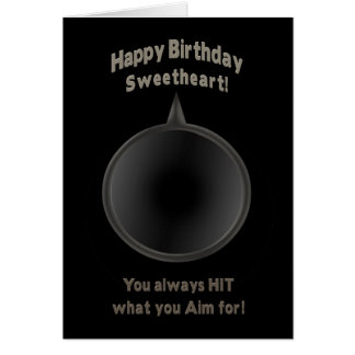 BIRTHDAY - SWEETHEART - GUN - AIM CARD
