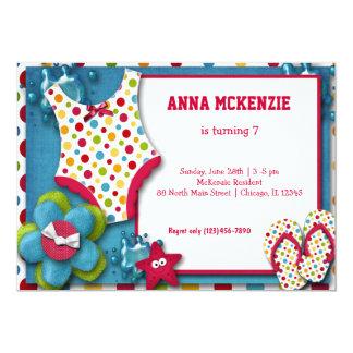 Birthday Swim Suit Card