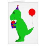 Birthday T-Rex Card