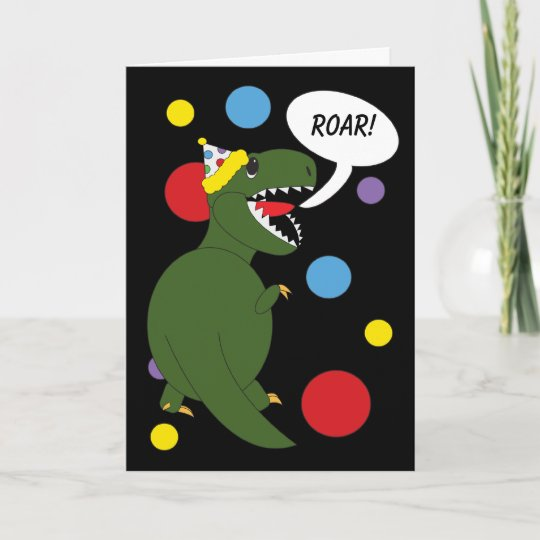 Birthday T Rex Dinosaur Card