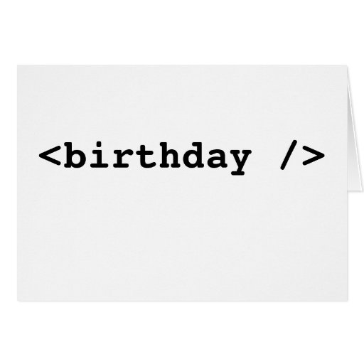 <birthday /> tarjeta de felicitación