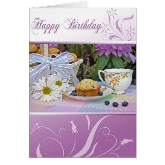 Birthday Tea Breakfast Card