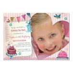 Birthday Tea Girl Heart | Photo Party Invitation
