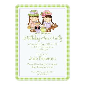 Birthday Tea Party Invitation Little Girls Design