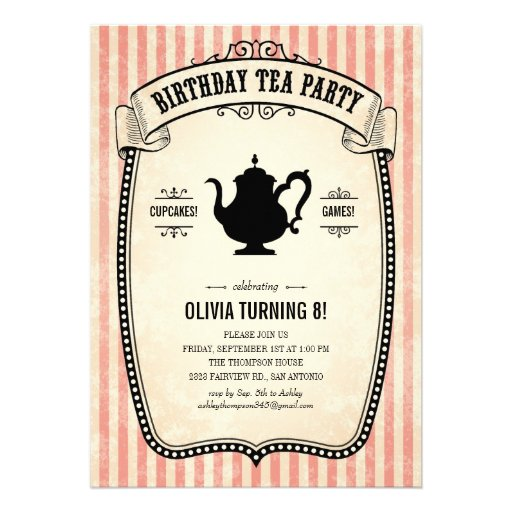 Personalized Mother daughter tea party Invitations