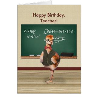 Birthday, Teacher, Baby Bird, Customizable Card