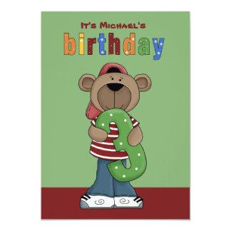 Birthday Teddy 3 Year Old - Photo Birthday Party I Card