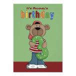 Birthday Teddy 3 Year Old - Photo Birthday Party I Invitations