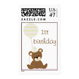 Birthday Teddy Bear Postage