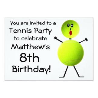 Birthday Tennis Party Invitation