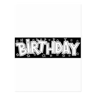 Birthday text postcard