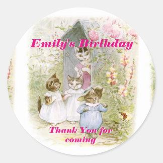 Birthday Thank You Beatrix Potter Stickers