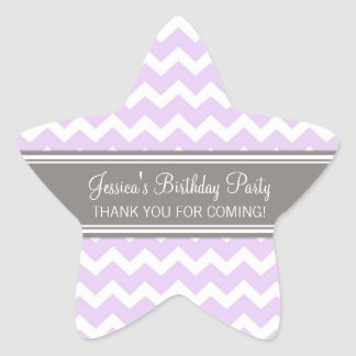 Birthday Thank You Custom Name Favor Tags Lilac