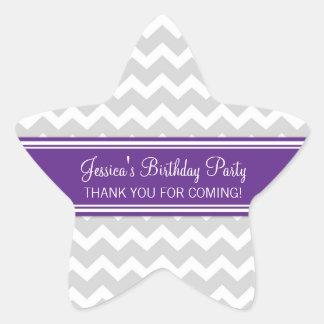 Birthday Thank You Custom Name Favor Tags Plum