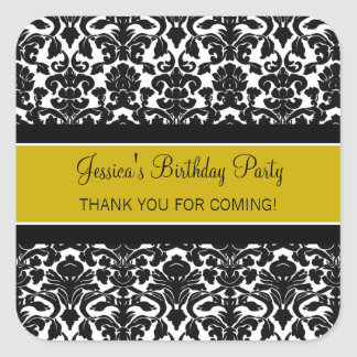 Birthday Thank You Name Favor Tags Gold Color