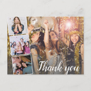 Birthday Thank You Photo Collage Any Year Postcard