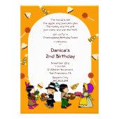 Birthday Thanksgiving Children's Party Invitation