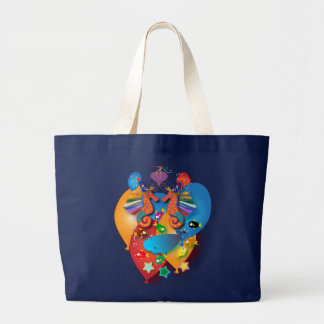 Birthday Theme: In the sea Large Tote Bag