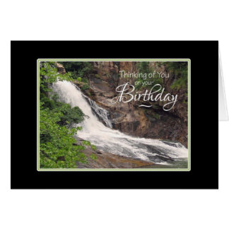 Birthday Thinking of You Waterfall Card