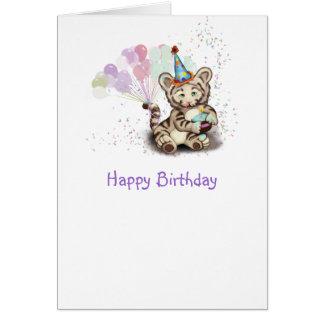 Birthday Tiger Card