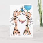 "BIRTHDAY TIGER CARD<br><div class=""desc"">A birthday tiger stands ready to celebrate.</div>"