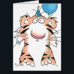 "BIRTHDAY TIGER CARD<br><div class=""desc"">A birthday tiger stands ready to celebrate.</div>"