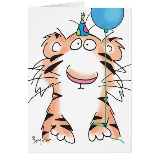BIRTHDAY TIGER Greeting Card