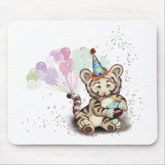 Birthday Tiger Mouse Pad