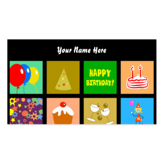 Birthday Tile Wallpaper, Your Name Here Business Card