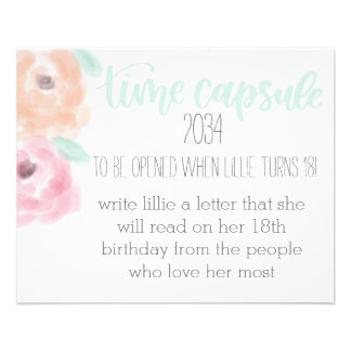 Birthday Time Capsule Card