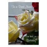 Birthday/To a Dear Niece-Yellow Roses Greeting Cards