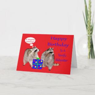 Birthday To Babysitter Greeting Card