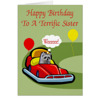 Birthday To Sister Greeting Card