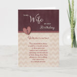"""Birthday to Wife - Why Do I Love You? Card<br><div class=""""desc"""">Let your wife know how much you love her and why with this romantic """"Why Do I Love You"""" Birthday card. Front of card features a faux ribbon and button heart and chevron design. Card designed by Rycky Creations,  heart by Suz of Arda Cards.</div>"""