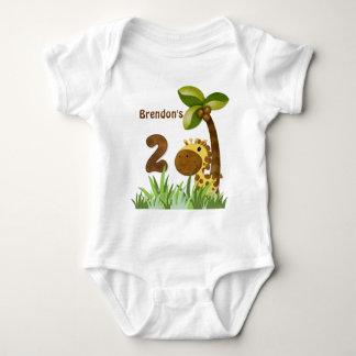 Birthday Tots Giraffe Birthday Baby Bodysuit