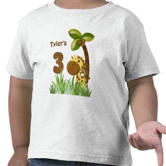 Birthday Tots Giraffe Birthday Tshirt