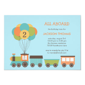Birthday Train Birthday Party Invitation 5