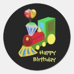 Birthday Train Celebration Classic Round Sticker