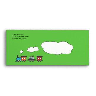 Birthday Train Envelope - Green