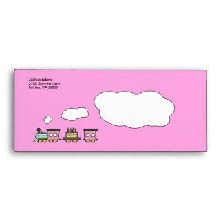 Birthday Train Envelope - Pink